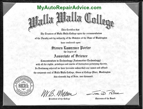 Automotive Technician Degree