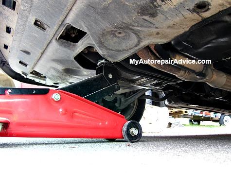 Jacking Car Under Engine