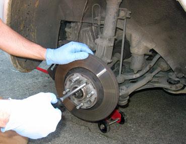 Remove Rotor Retainer Screw