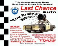 Last Chance Auto Repair For Cars Trucks - (815)577-0327
